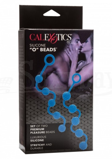 "Posh Silicone ""O"" Beads - Blue"