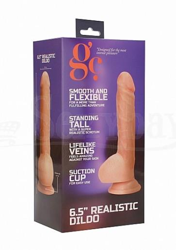 6.5 Inch Realistic Dildo - Flesh