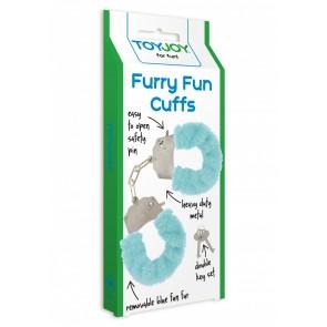 Furry Fun Cuffs Aqua