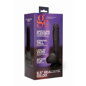 6.5 Inch Realistic Dildo - Black