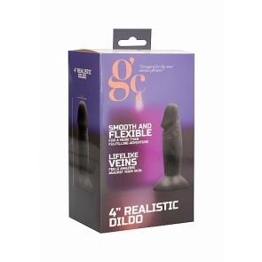 4 Inch Realistic Dildo - Black
