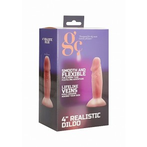 4 Inch Realistic Dildo - Flesh